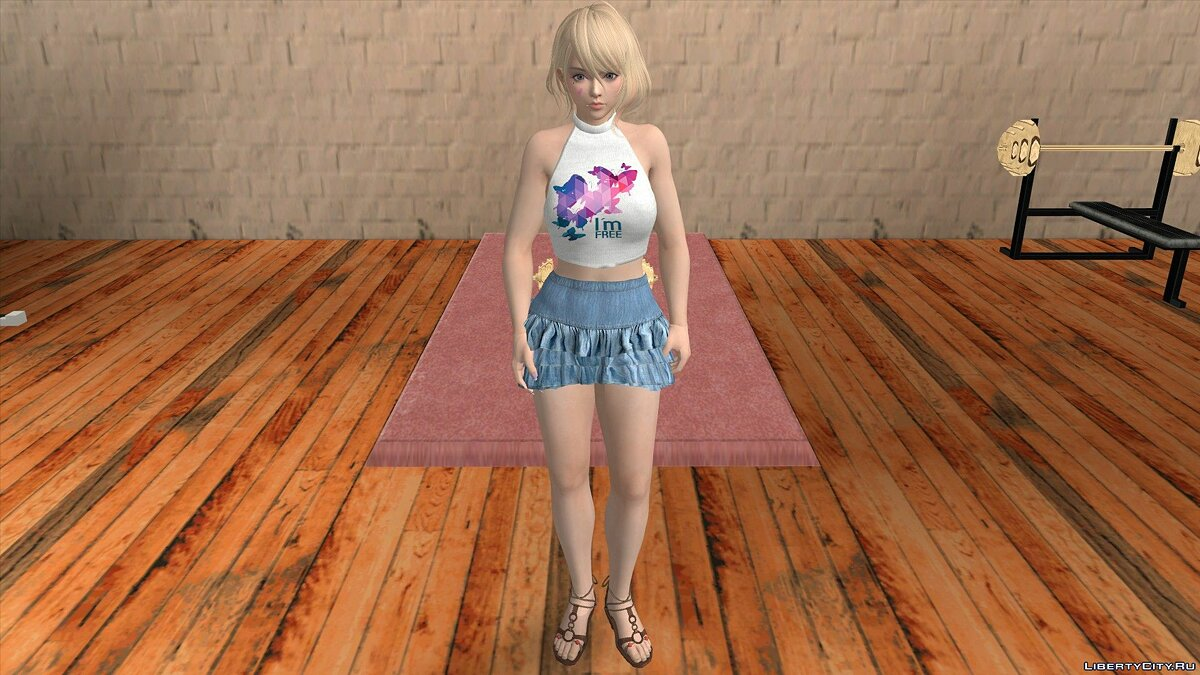 New character Tamaki in Casual Wear v9 for GTA San Andreas (iOS, Android)