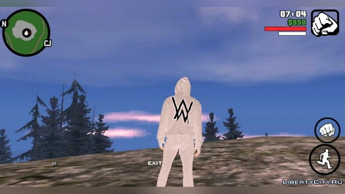 New character Alan Walker in white for GTA San Andreas (iOS, Android)