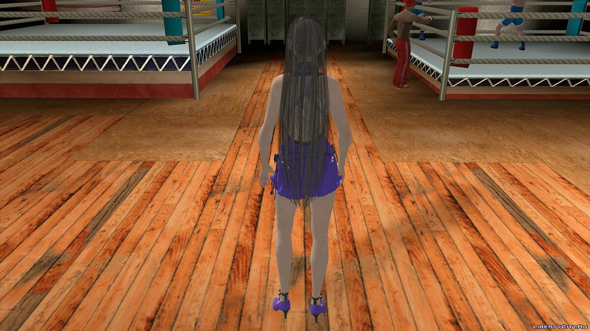 New character Tifa Lockhart in a dress from Final Fantasy for GTA San Andreas (iOS, Android)