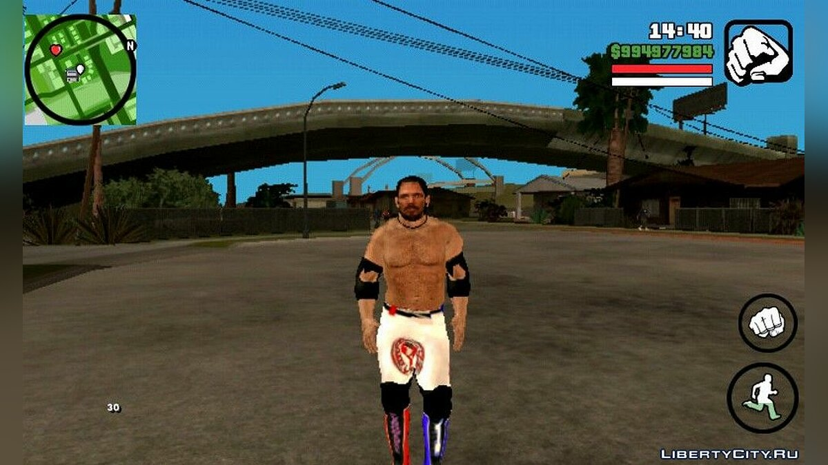 New character AJ Styles for GTA San Andreas (iOS, Android)