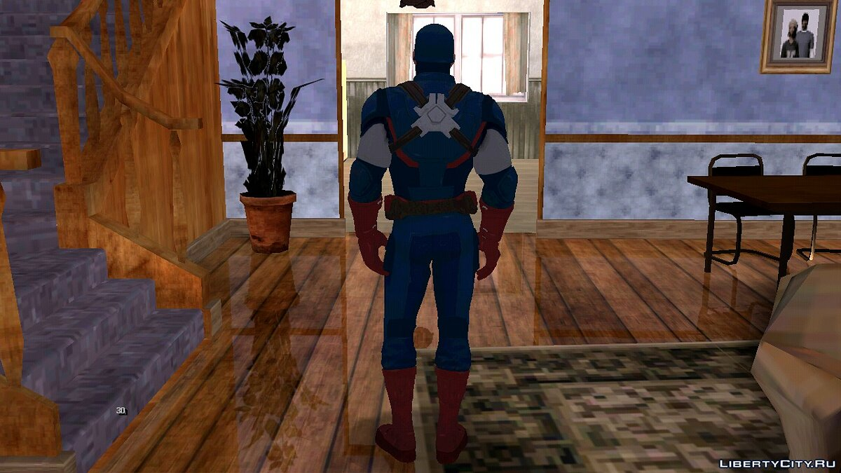 New character Fortnite Captain America for GTA San Andreas (iOS, Android)