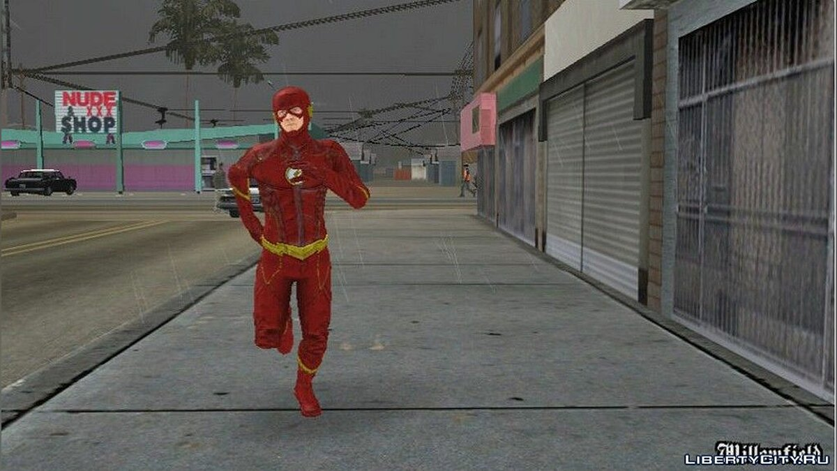 New character The flash for GTA San Andreas (iOS, Android)
