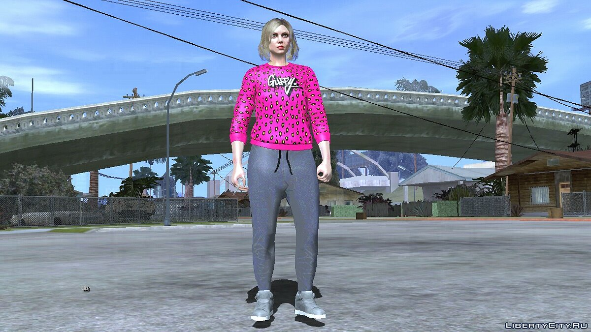 New character Random skin girls blonde from GTA Online # 4 for GTA San Andreas (iOS, Android)