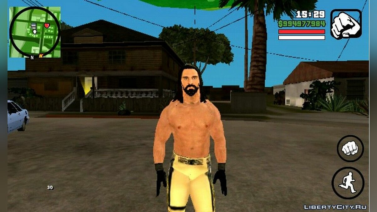 New character Seth Rollins from WWE for GTA San Andreas (iOS, Android)