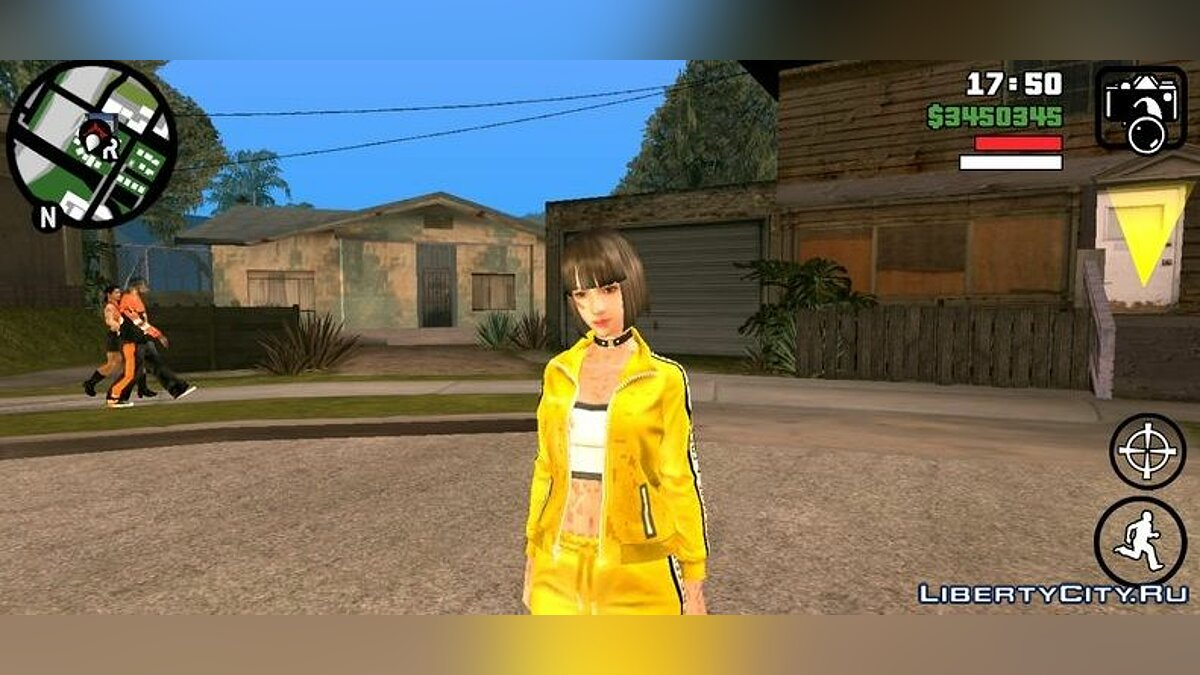 New character Girl Kelly from the game Fire for Free for GTA San Andreas (iOS, Android)
