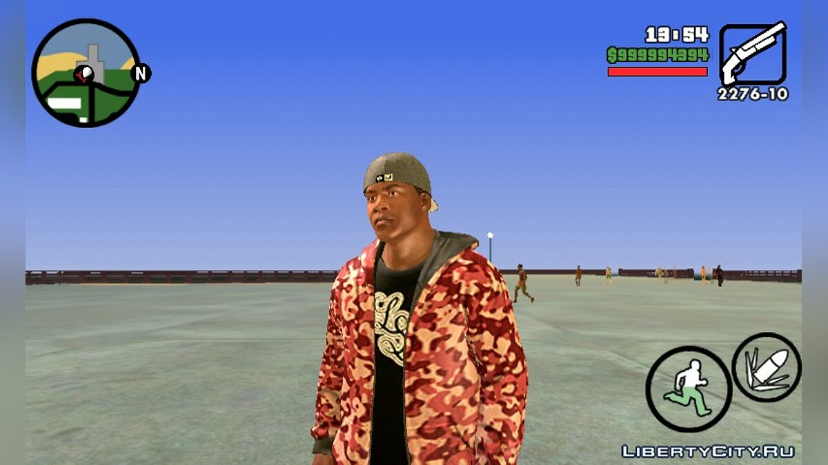 Model Franklin from GTA V (Player.img / Android) for GTA San Andreas (iOS, Android) - Картинка #2