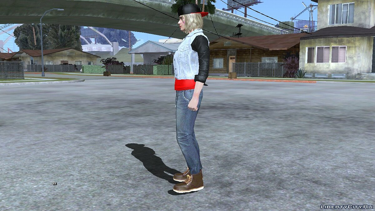 New character The random skin of a blonde girl from GTA Online # 5 for GTA San Andreas (iOS, Android)
