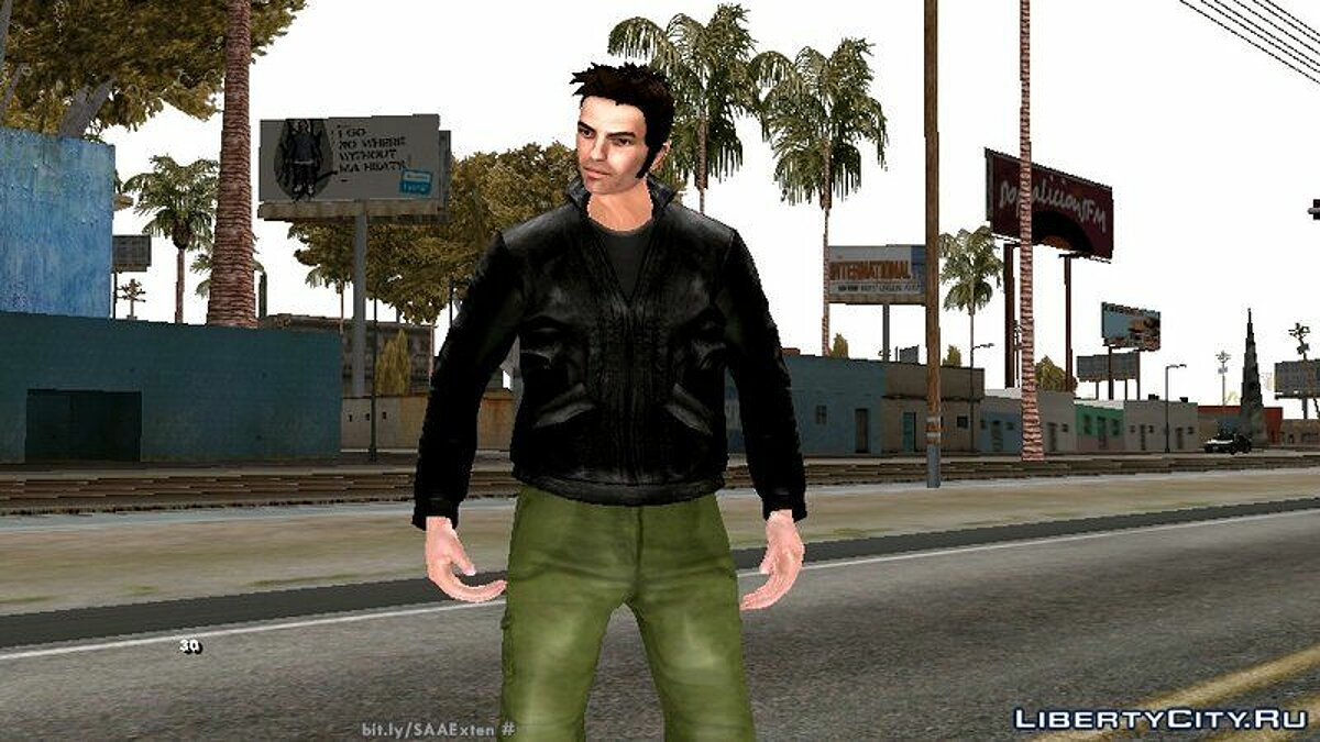 New character HD Claude from GTA 3 for GTA San Andreas (iOS, Android)