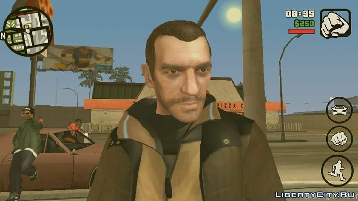 New character Niko Bellic Skin for GTA San Andreas (iOS, Android)