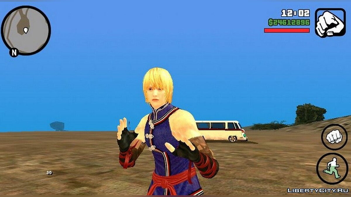 New character Eliot from the game Dead Or Alive 5 for GTA San Andreas (iOS, Android)