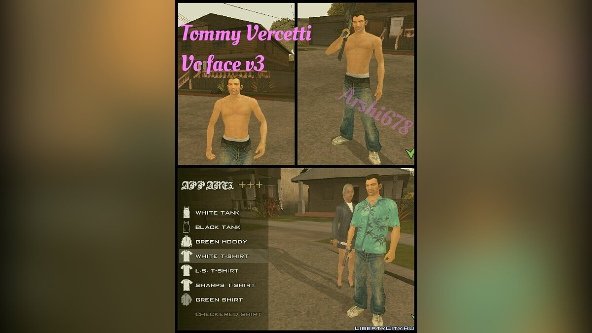 New character Томми Версетти for GTA San Andreas (iOS, Android)