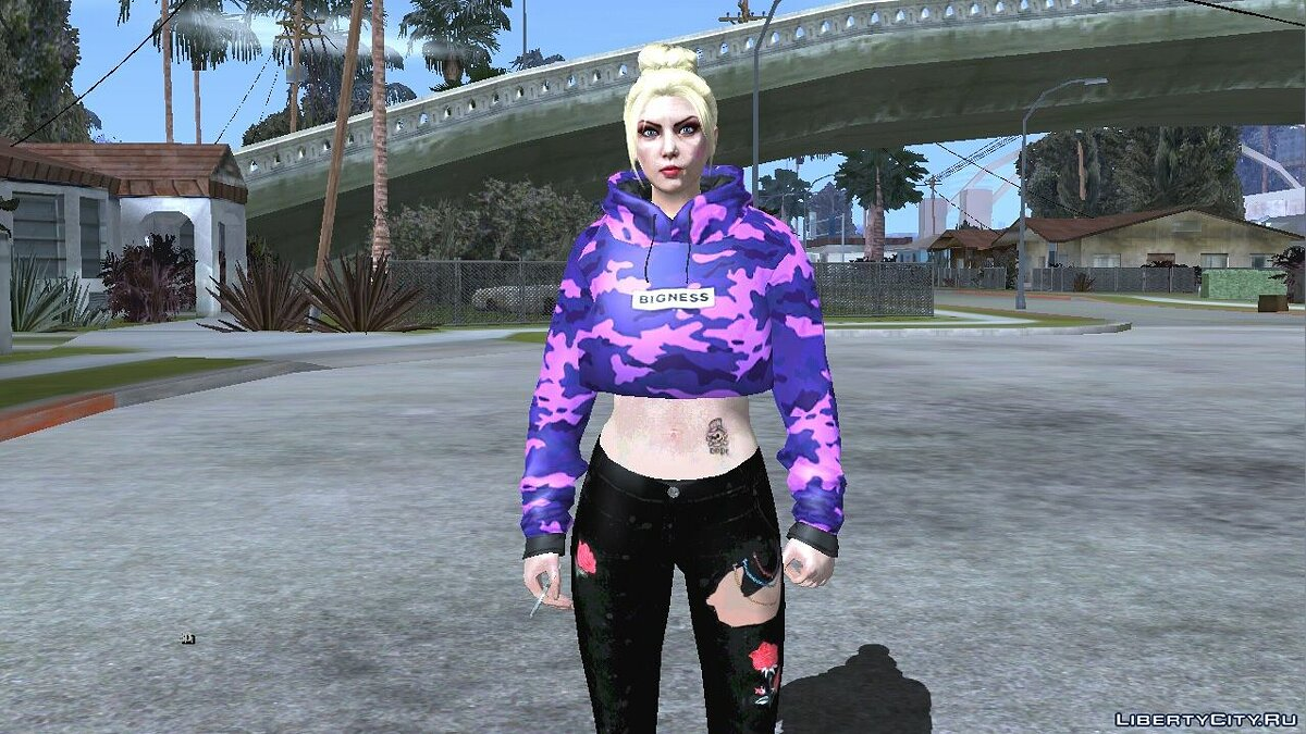 New character The random skin of a blonde girl from GTA Online # for GTA San Andreas (iOS, Android)