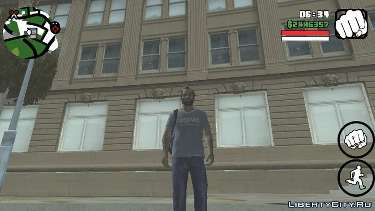 New character Trevor Philips for GTA San Andreas (iOS, Android)