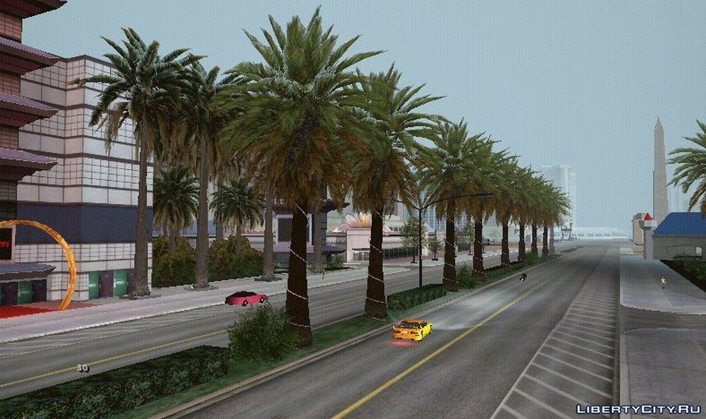 HD textures for all trees from GTA 4 for GTA San Andreas (iOS, Android)
