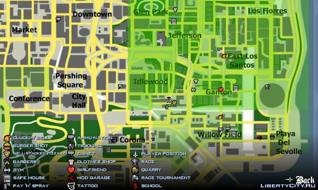 Vice city house locations