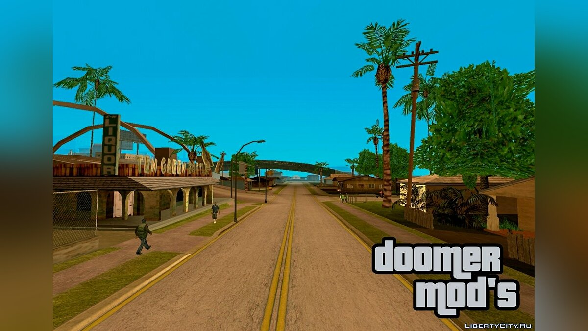 Texture mod Roads and sidewalks in the style of GTA Vice City for GTA San Andreas (iOS, Android)