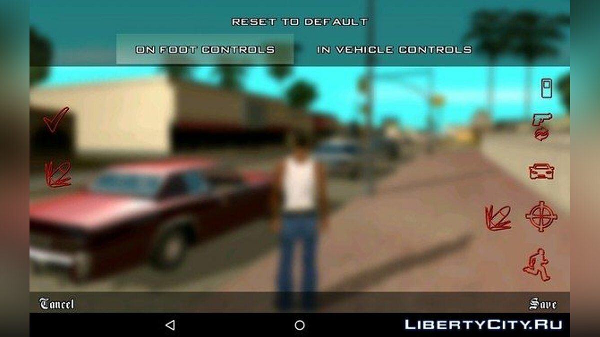 New Buttons for GTA San Andreas (iOS, Android) - Картинка #2