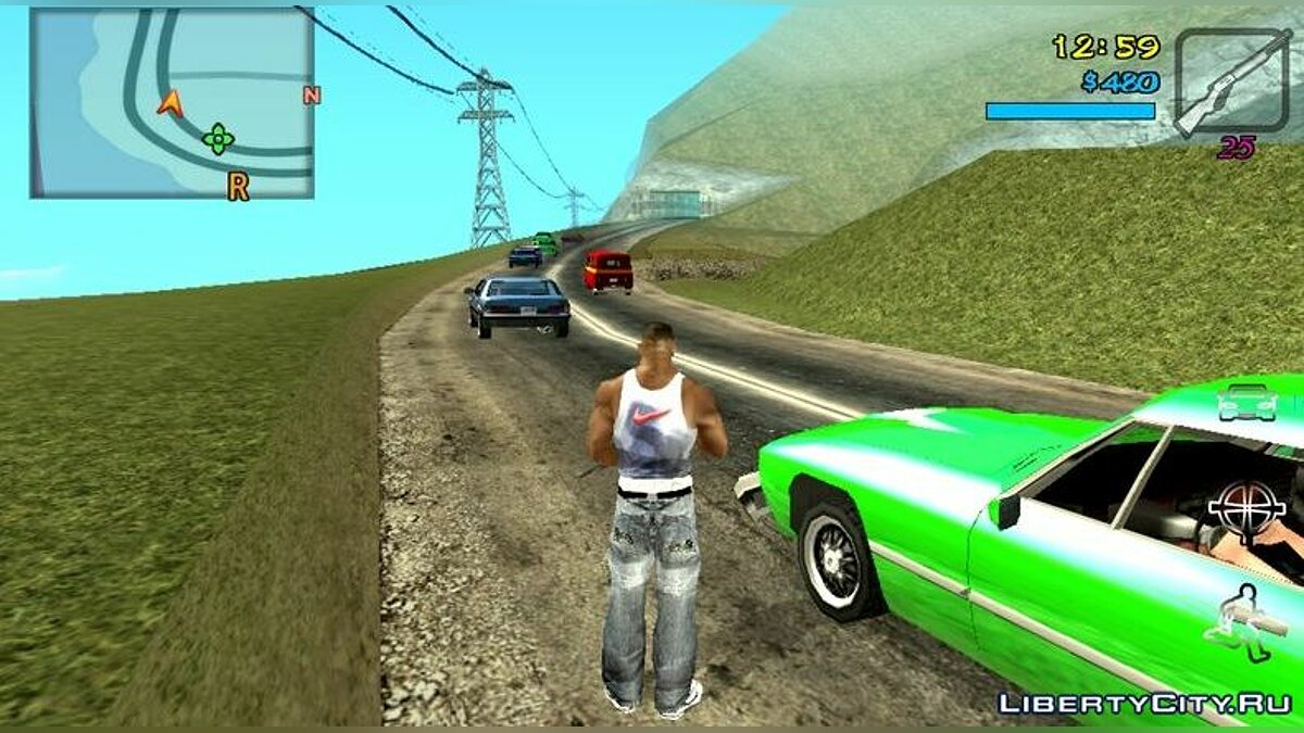 Texture mod Roads in the style of GTA 5 v2 for GTA San Andreas (iOS, Android)
