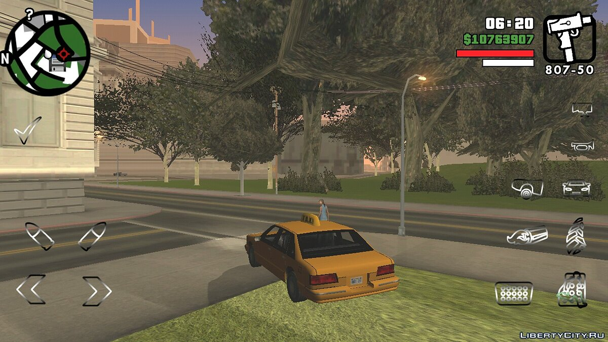 Texture mod Optimized button layout for GTA San Andreas (iOS, Android)