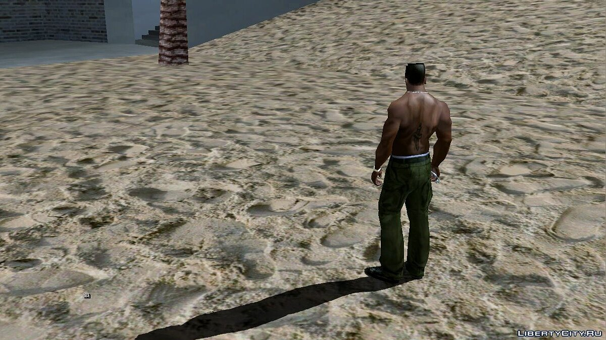 Texture mod High quality textures for the beach for GTA San Andreas (iOS, Android)