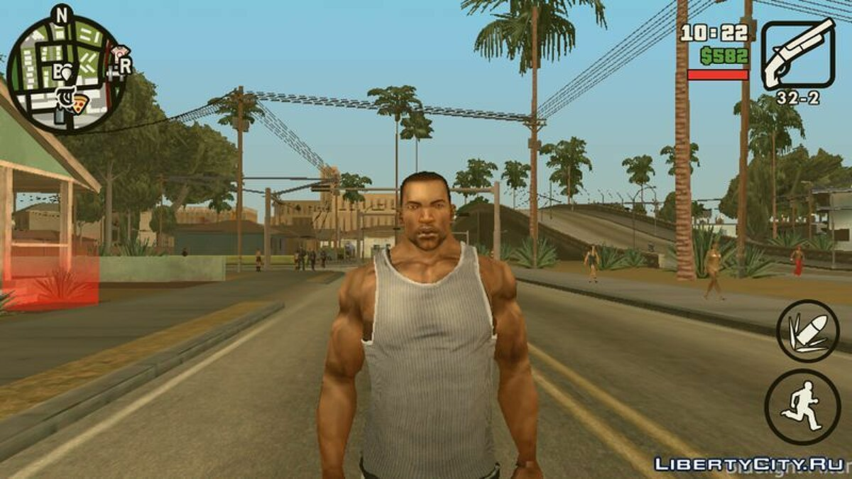 Texture mod CJ in HD quality for GTA San Andreas (iOS, Android)