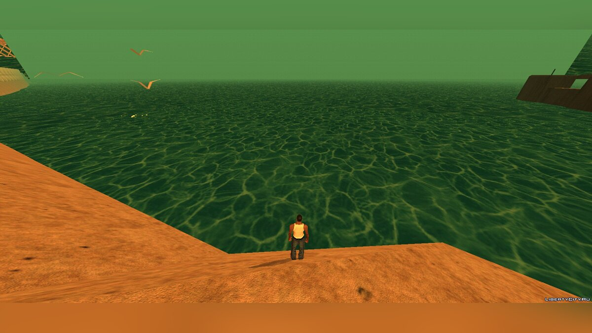 Texture mod Water from the PS2 version of Vice City for GTA San Andreas (iOS, Android)