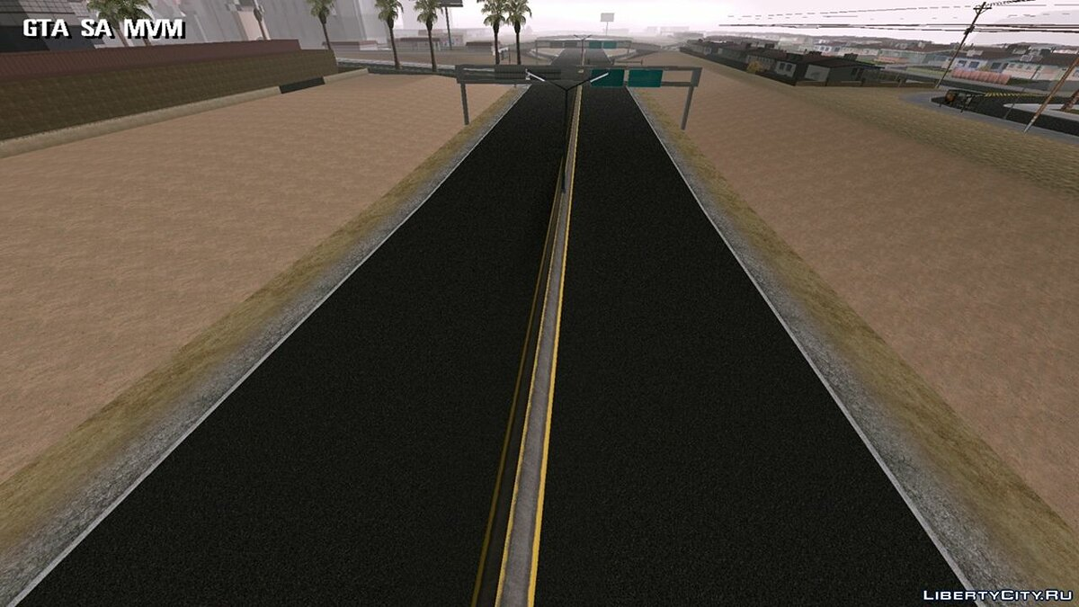 Texture mod Improved road for GTA San Andreas (iOS, Android)