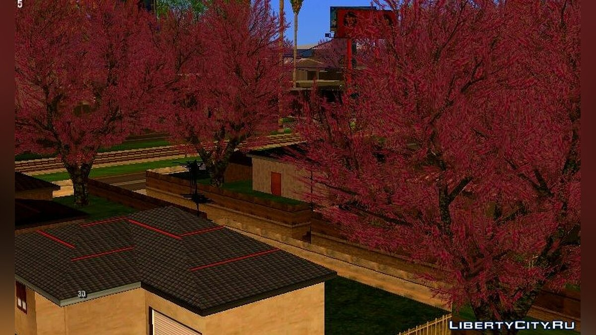 Texture mod Cherry trees for GTA San Andreas (iOS, Android)