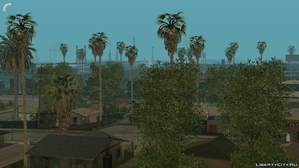 Texture mod Improved vegetation for GTA San Andreas (iOS, Android)
