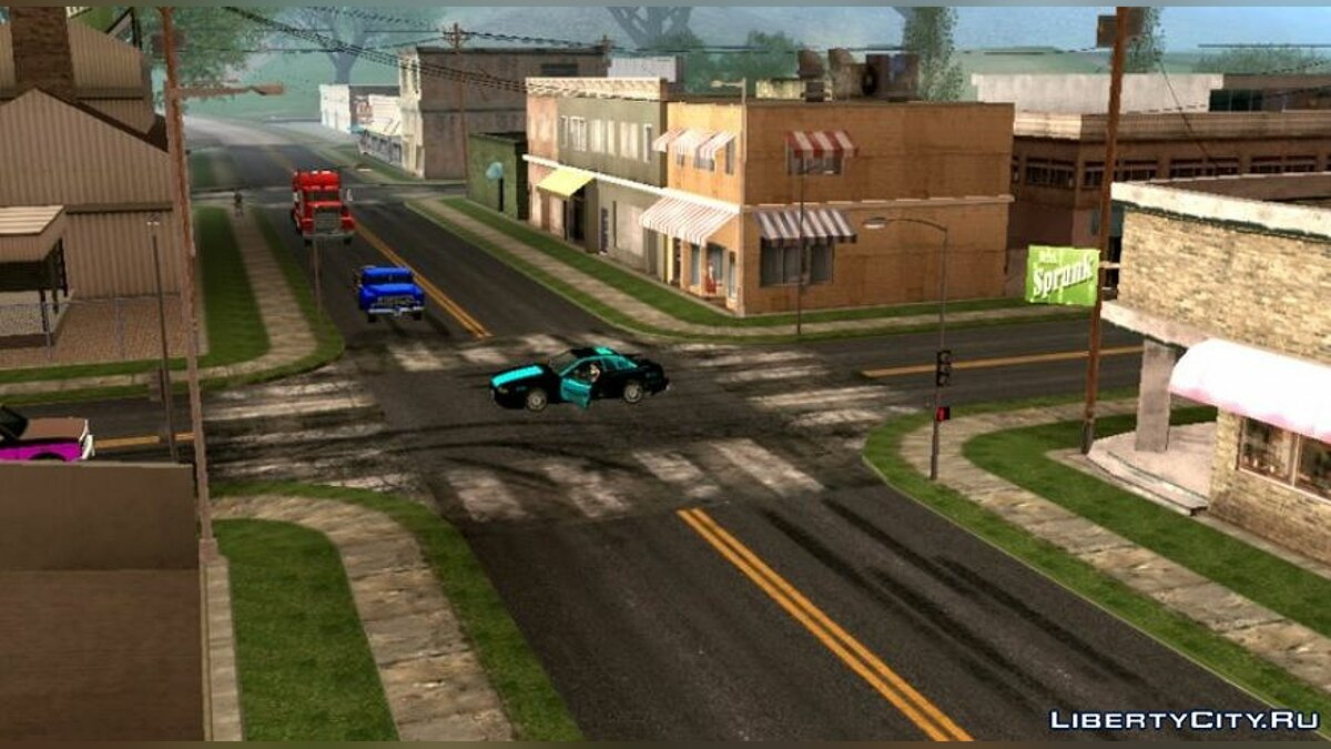 Texture mod HD roads from GTA 5 for GTA San Andreas (iOS, Android)