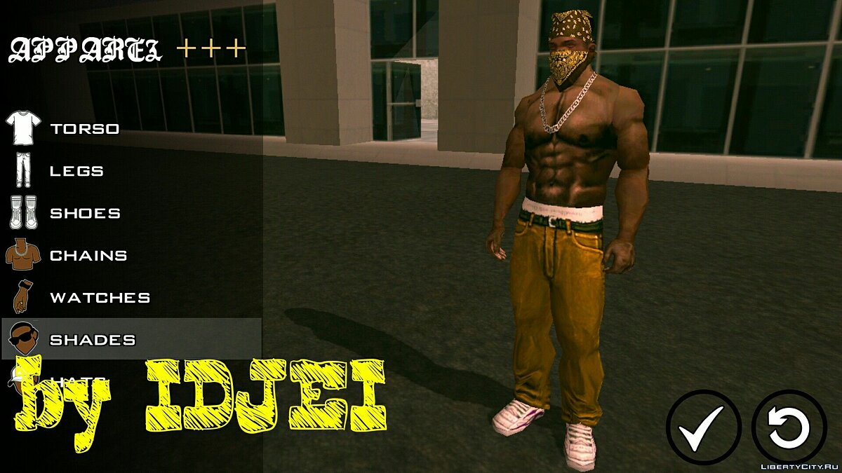 Player texture by IDJEI (1.0) for GTA San Andreas (iOS, Android) - Картинка #1