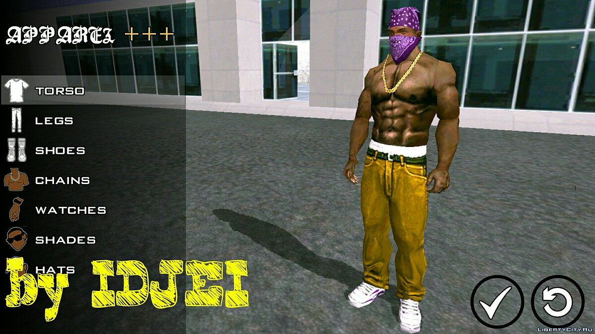 Player texture by IDJEI (1.0) for GTA San Andreas (iOS, Android) - Картинка #2