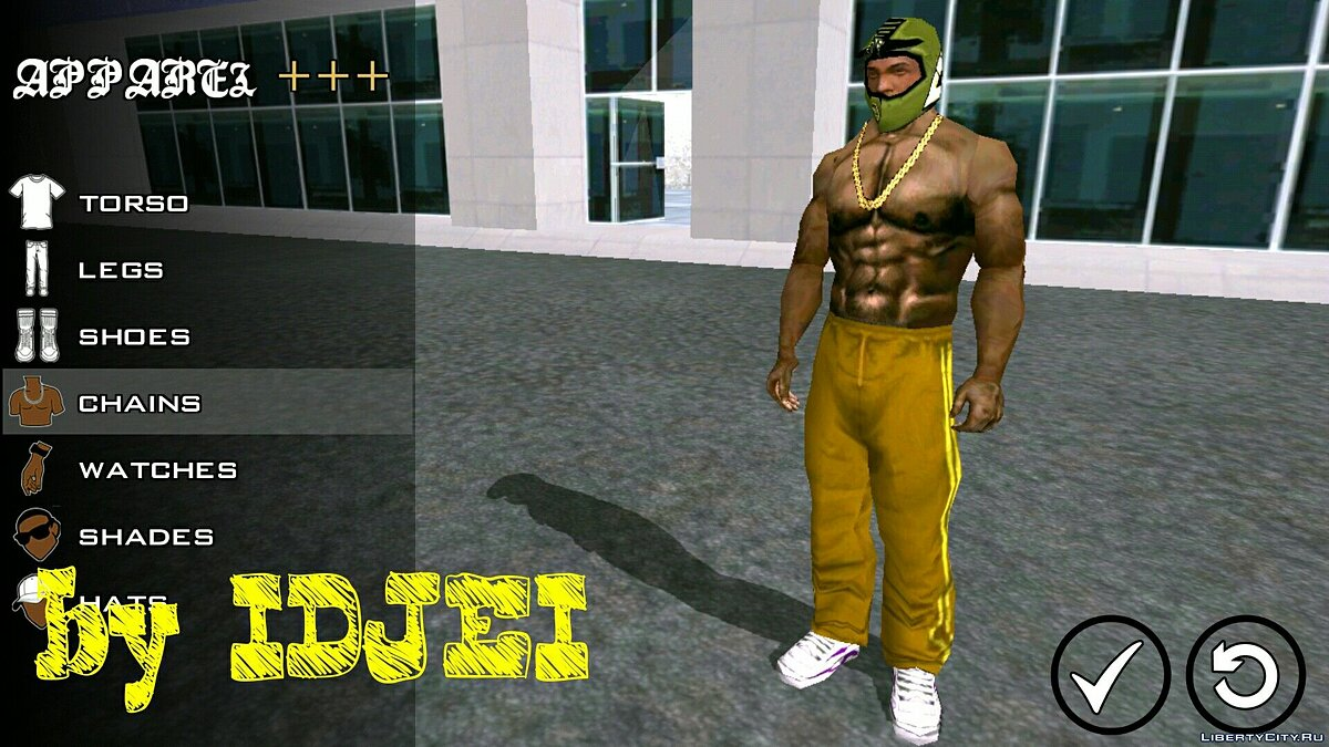 Player texture by IDJEI (1.0) for GTA San Andreas (iOS, Android) - Картинка #3