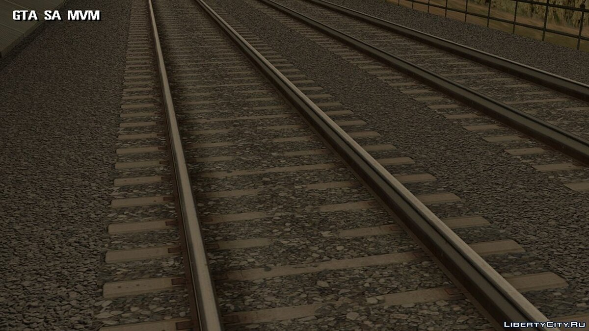 Texture mod HD rails for GTA San Andreas (iOS, Android)