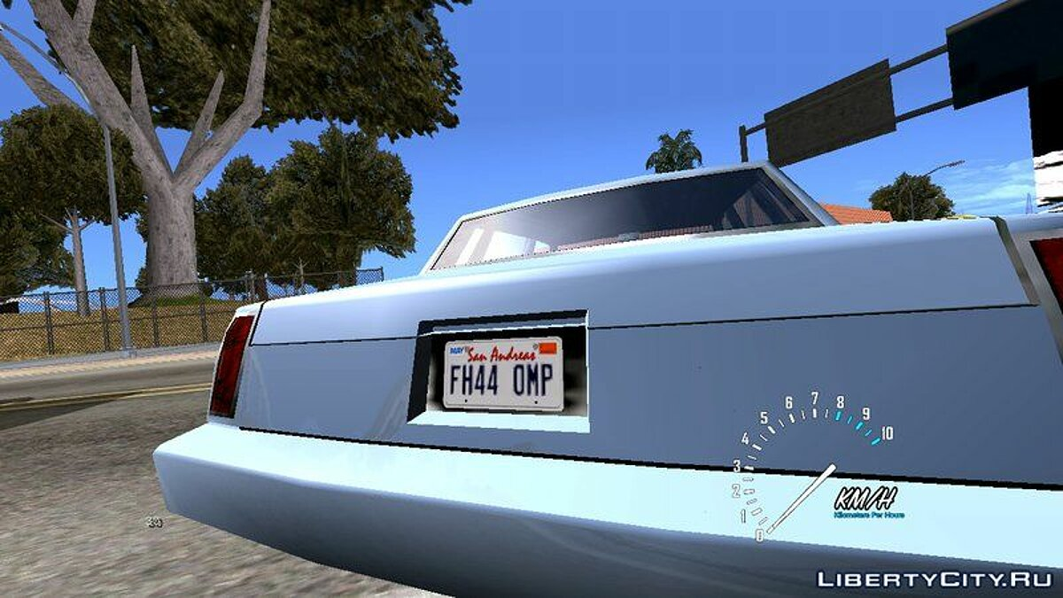 Texture mod License plates from GTA 5 for GTA San Andreas (iOS, Android)