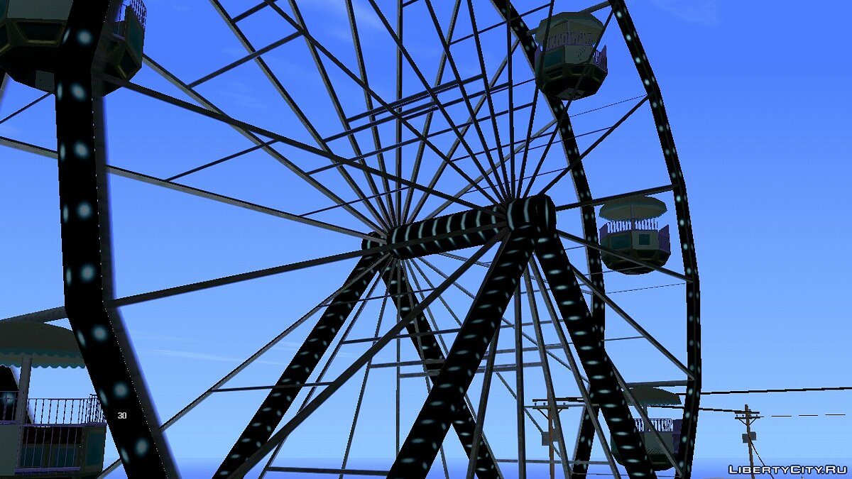 Texture mod New Ferris wheel for GTA San Andreas (iOS, Android)