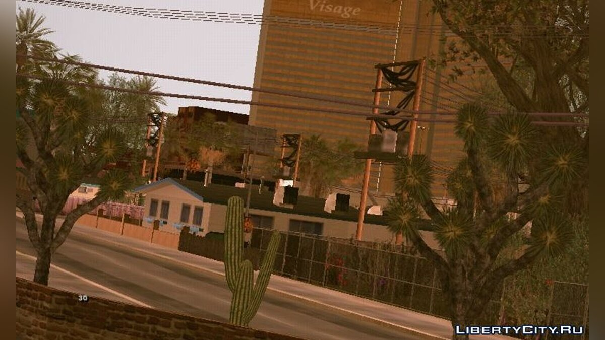 Texture mod American Dream (BSOR) - realistic vegetation for GTA San Andreas (iOS, Android)
