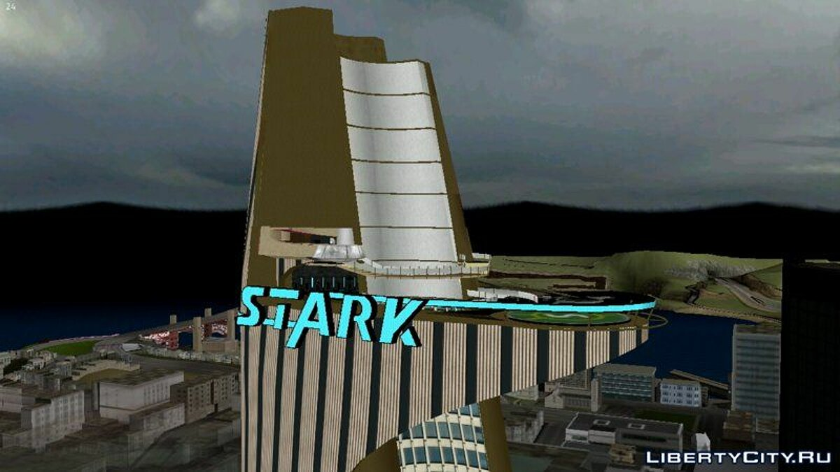 Texture mod Stark tower for GTA San Andreas (iOS, Android)