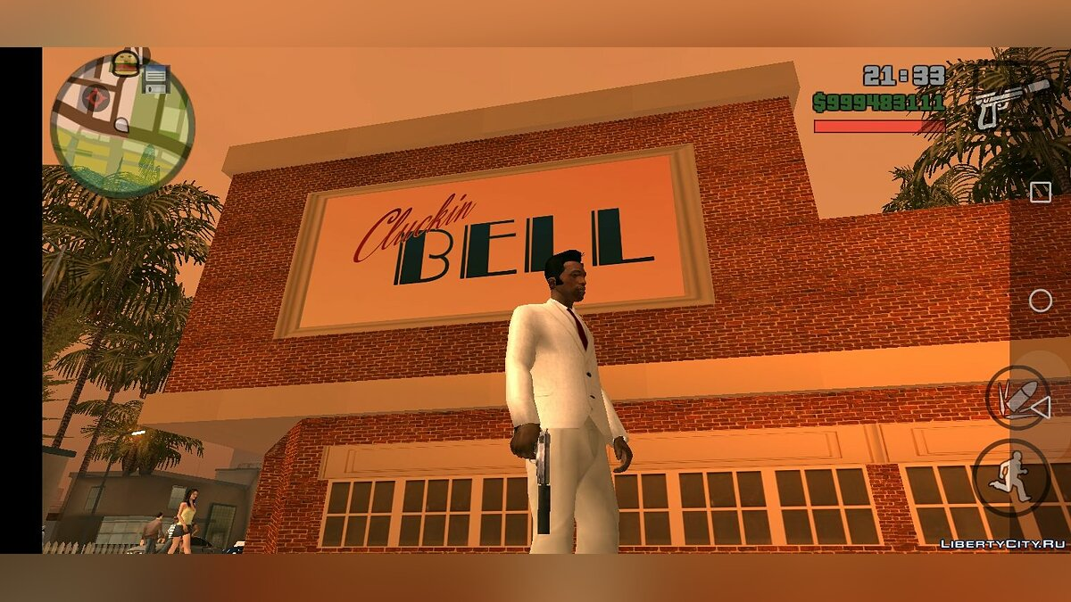 Texture mod New Cluckin Bell for GTA San Andreas (iOS, Android)
