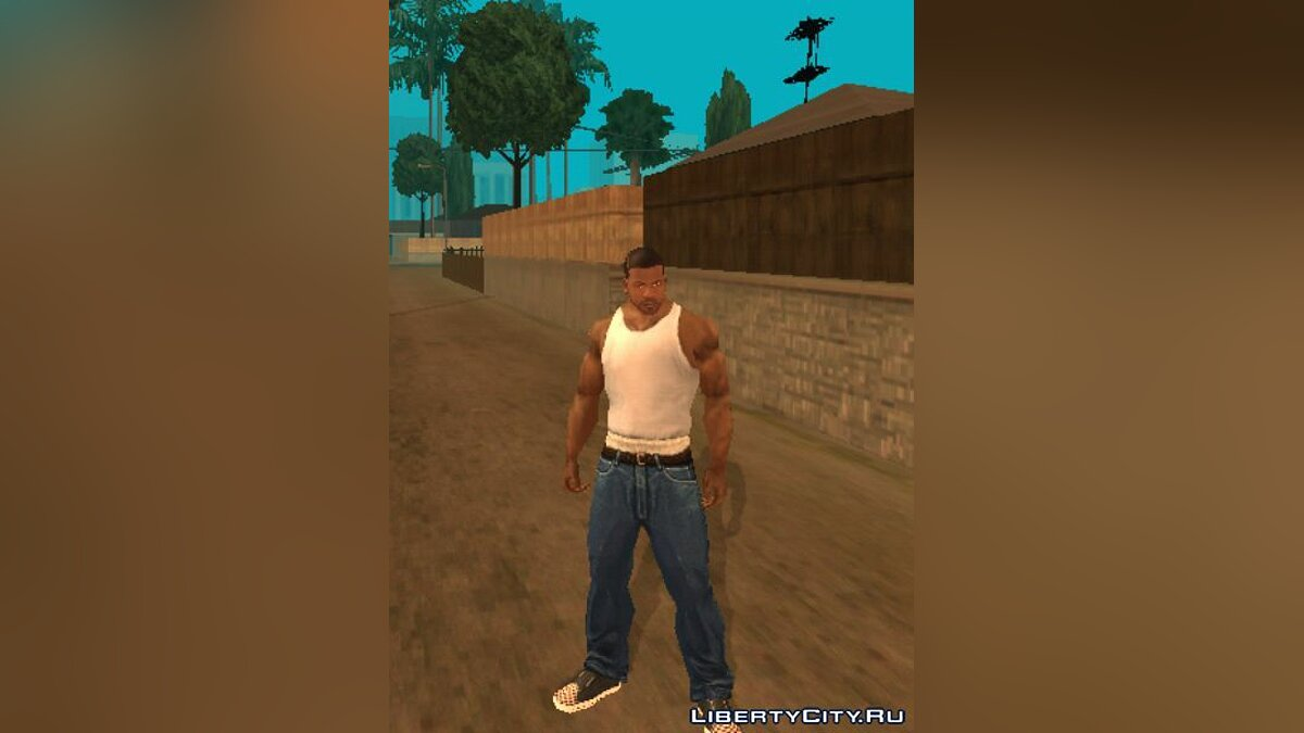 Texture mod Лицо Франклина for GTA San Andreas (iOS, Android)