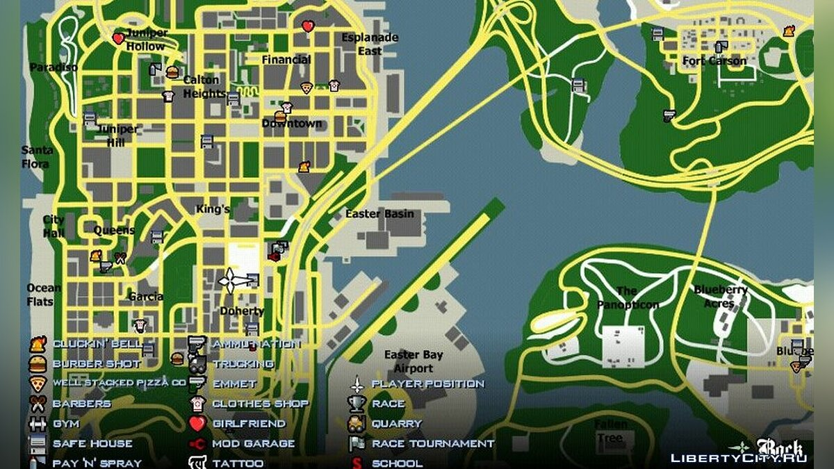 Texture mod Радар в стиле Google Maps for GTA San Andreas (iOS, Android)