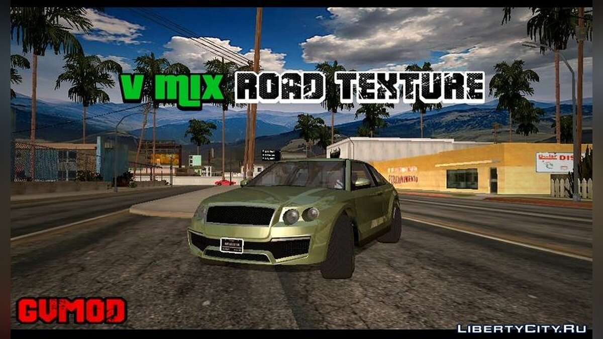 Texture mod New road textures in the style of GTA 5 for GTA San Andreas (iOS, Android)