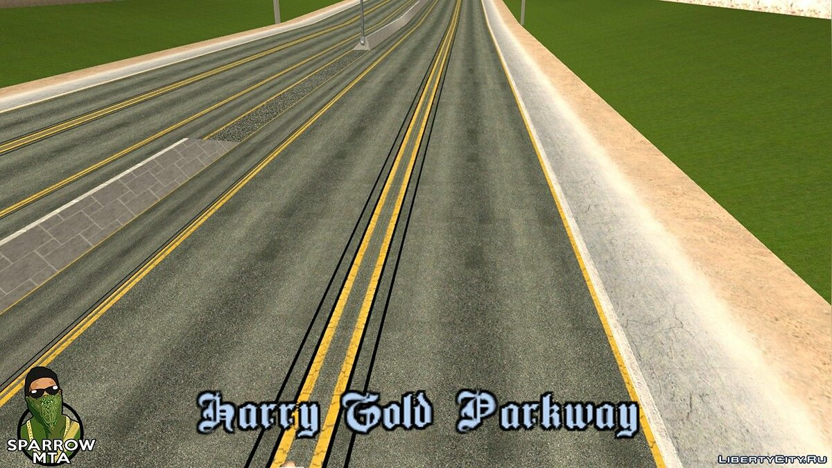 HD textures for roads for GTA San Andreas (iOS, Android) - Картинка #3