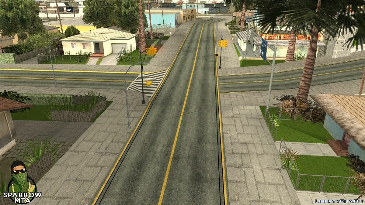 Texture mod HD textures for roads for GTA San Andreas (iOS, Android)