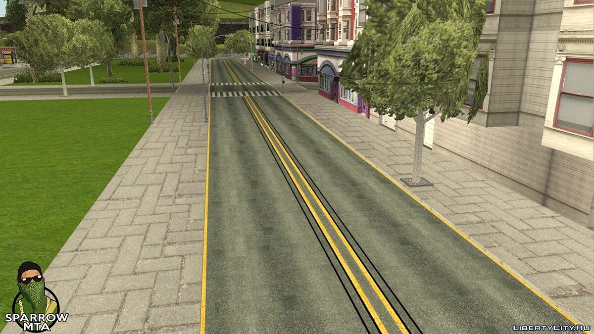 HD textures for roads for GTA San Andreas (iOS, Android) - Картинка #2