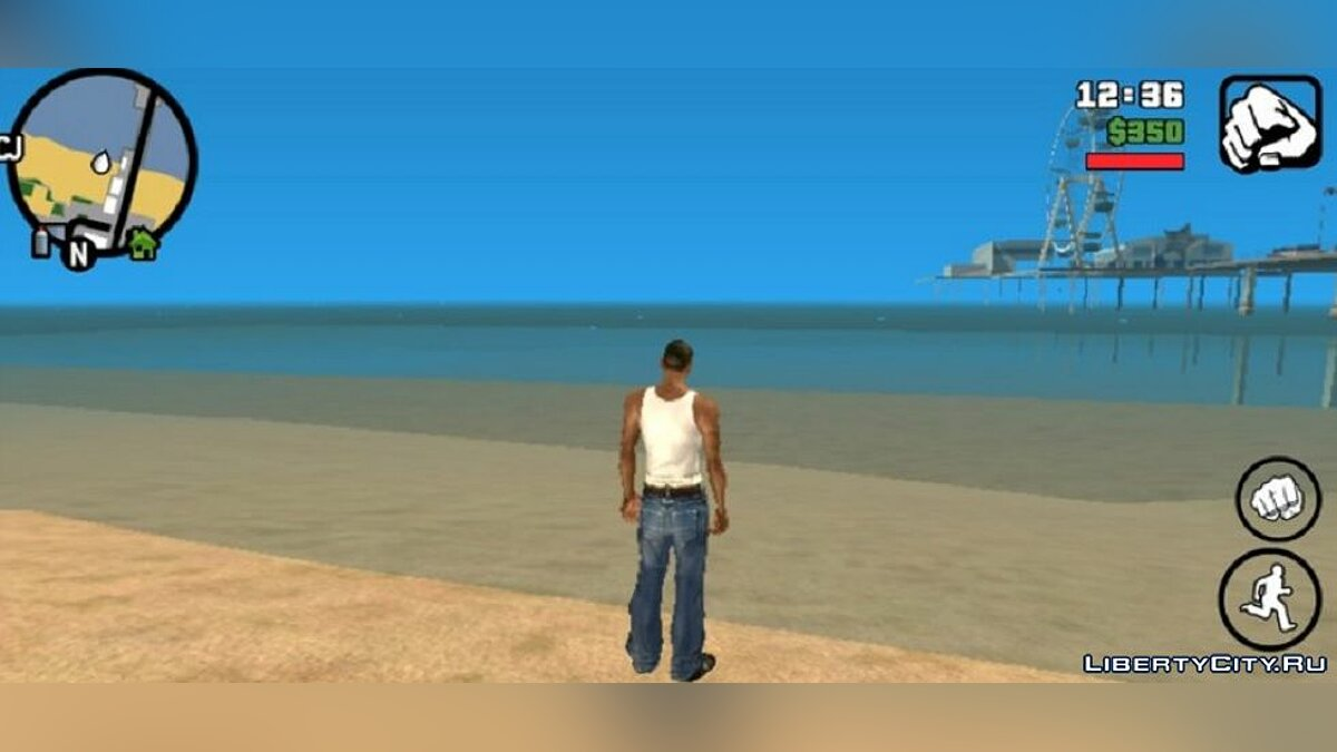 Texture mod Pure water for GTA San Andreas (iOS, Android)