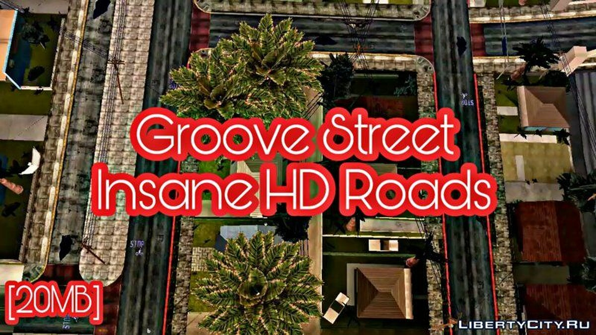 Texture mod HD roads for grove street for GTA San Andreas (iOS, Android)