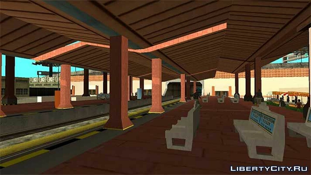 Texture mod Updated Unity Station for GTA San Andreas (iOS, Android)