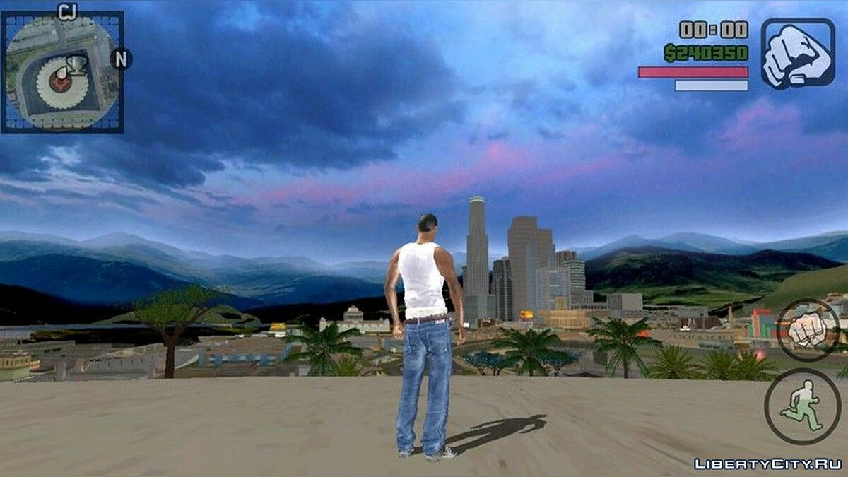 Texture mod Sky in HD quality for GTA San Andreas (iOS, Android)
