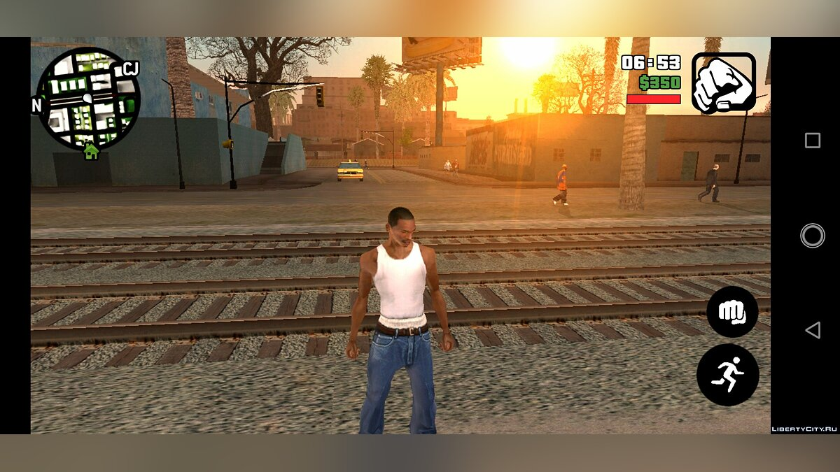 Texture mod New buttons in the style of GTA 5 for GTA San Andreas (iOS, Android)